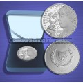 "Cyprus 5 Euro ""50 Years Central Bank"" Silver Proof 2013"
