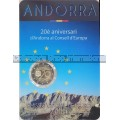 "Andorra- 2 Euro Commemorative 2014 ""20 Years in the Council of Europe"" BU in Coin card"